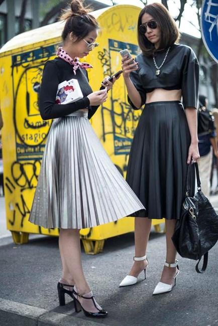 """Résultat de recherche d'images pour """"midi skirt street style"""""""