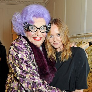 Dame Edna and Stella McCartney's turning on McCartney's store Christmas lights