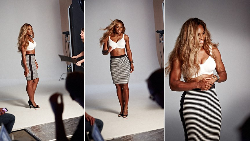 ELLE exclusive: behind the scenes with Serena Williams for Berlei