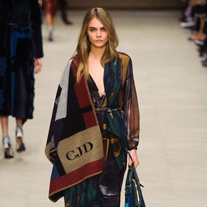 Cara Delevingne closes the Burberry Prorsum fashion show in London