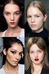 Beauty on Milan's AW14 runway