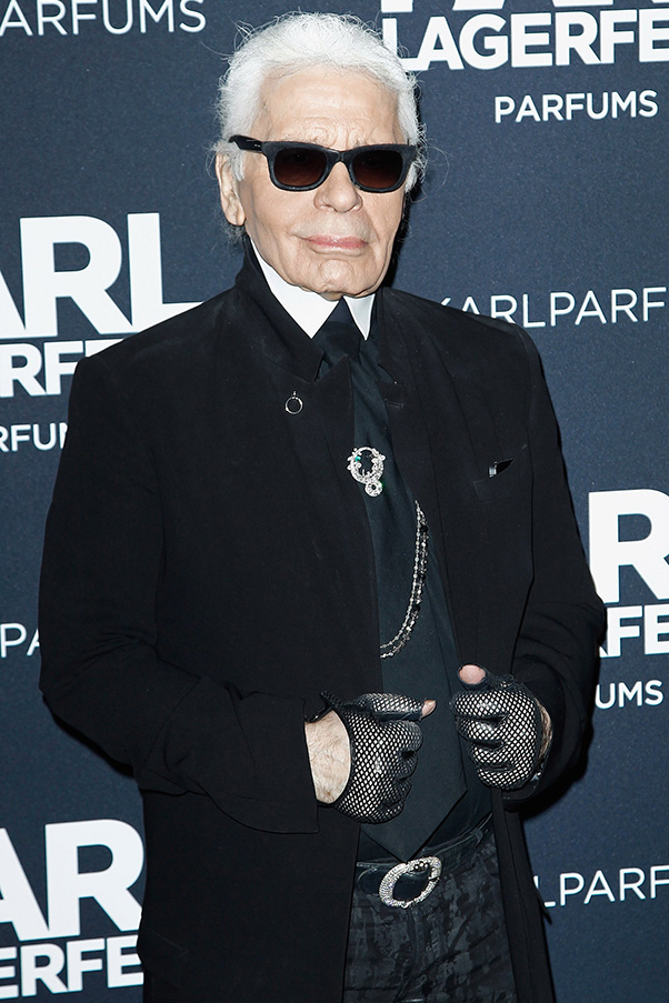 Karl Lagerfeld launches perfume in Paris