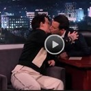 Watch: Johnny Depp and Jimmy Kimmel Kiss