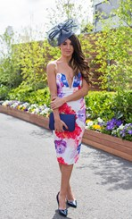 Ash Reinboth at the Caulfield Guineas Day 2014 in Melbourne