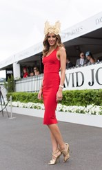 Rebecca Judd at the 2014 Caulfield Cup in Melbourne