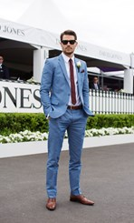 Jason Dundas at the 2014 Caulfield Cup in Melbourne
