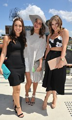 Jess Elgawly, Bianca Bucciarelli and Georgie-Barlow at the Sydney Tattersall's Club Cup Day