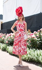 Chloe Moo at Oaks Day 2014 in Melbourne