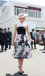 Georgia Gardiner at Crown Oaks Day 2014 in Melbourne