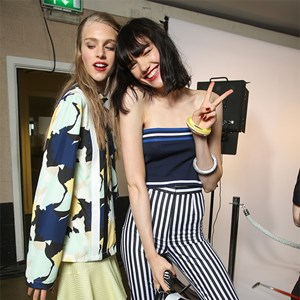 Backstage at Topshop Unique SS15