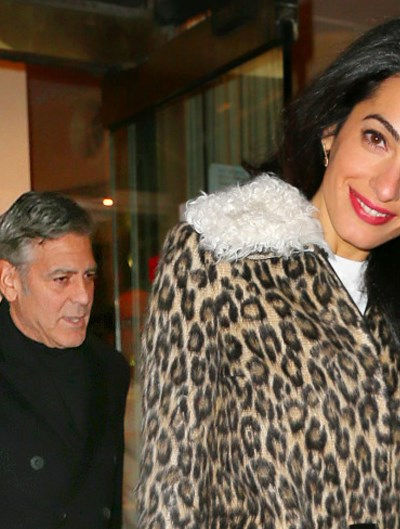 Amal Clooney goes out in a leopard print coat